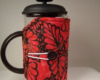 French Press Cozie, Insulated Coffee Pot Cozy, Bodum 8 Cup Press Pot Cosy, Hot Pot Sleeve Cozie