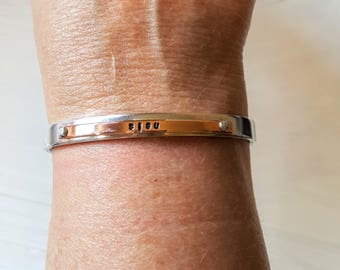 SISI Aluminum and Copper Riveted layered Cuff Bracelet  Finnish Made in Michigan UP