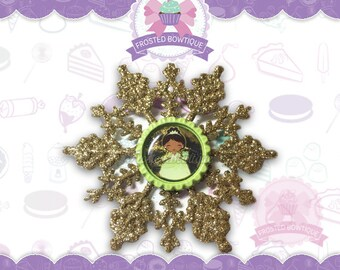 Tiana The Princess and the Frog Glitter Snowflake - Christmas Ornament