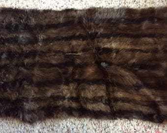 VINTAGE FUR PIECE, leather, sample, project, upcycle, assembledge
