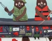 BUNDLE SALE Adventure Red Brawny Bear Bundle from Robert Kaufman by Andie Hanna (2 Fabrics Plus a Panel)