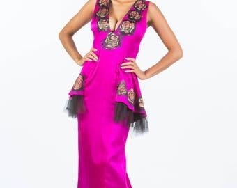 Magenta Peplum dress
