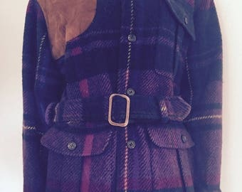 Ralph Lauren Jacket / 80s / Plaid Coat / Preppy Clothes / Designer Clothing
