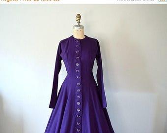 25% SALE Vintage 1950s wool dress . Anne Fogarty dress