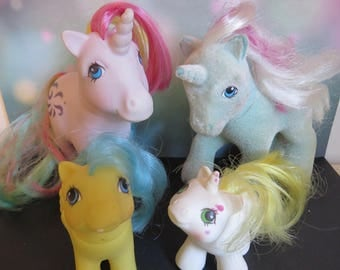 Vintage My Little Pony Lot / GI Ponies / So Soft Fifi Unicorn / Windy Unicorn / My Little Ponies Baby and Pegasus