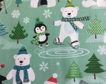 Makower 1581 Frosty 100% cotton fabric by the half metre