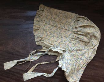 Antique great great grandmothers authentic hand made bonnet