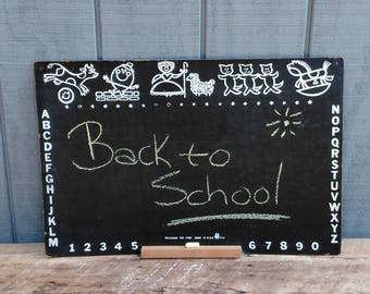Vintage Pressman Chlakboard - Childerens Chalkboard - Kids Room - Back to School