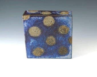 Wall Hanging, Wall Art, Handmade Pottery, Home Decor, Blue Pottery Art Box, Wall Art Decor, Office Decor, Modern Art, Ceramic Box, W016
