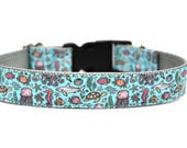 "Ocean Dog Collar 3/4"" 1"" or 1.5"" Summer Dog Collar"