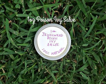 Poison Ivy Salve - Jewelweed Salve - Poison Ivy Relief - Herbal Salves - Natural Remedies - Elusive Wolf