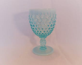 Fenton Blue Hobnail Water Goblet from 1950's