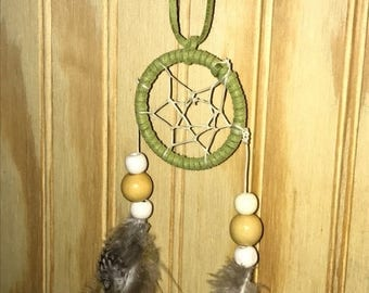 Extra Small olive green dreamcatcher