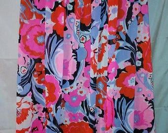 "BIG SUMMER SALE 70s Vintage Mod Floral Baby Doll Nightie-Slinky Nylon-Size 6-Medium-38"" Bust-Cool Resort Summer Pajamas Nightgown"
