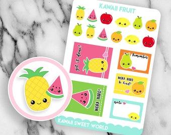 Kawaii Fruit | Planner Sticker Sheet