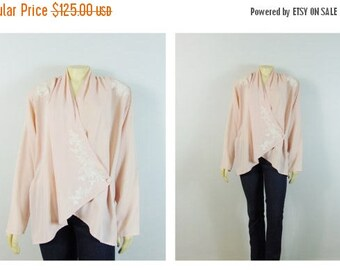 MOVING SALE Vintage Blazer RARE Victoria's Secret Oversized 80s Jacket Baby Pink & White Embroidered Shoulder Pads Deadstock Nwt S Modern S