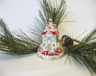 Lenox Christmas Ornament - Cottage House Ornament with Train - Christmas Tree Decoration, Holiday Decor, Tree Ornament