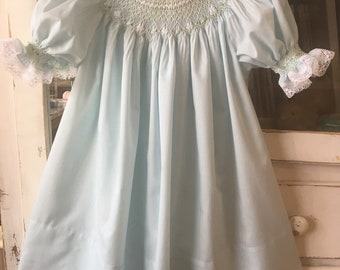 Size 3 Hand Smocked Bishop Dress