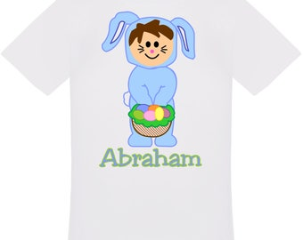Personalized Easter Bunny Boy T-Shirt