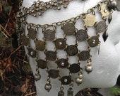 Egyptia - Chain Headdress - Chain Reaction Collection - Tribal Fusion Bellydance Boho Gypsy Goddess  Burlesque Wedding Burning Man
