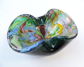 Murano Italy Glass Ashtray