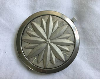 Vintage Lotus Blossom Compact