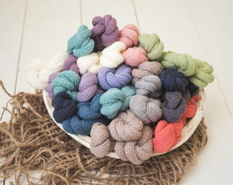 Merino Lace Knit Newborn Stretch Wrap Photography Prop