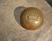 Rare Antique French Crown Button, Antique Livery Buttons, Vintage Supplies, French Livery Button LORGNIE* 69 Rue Richelieu,