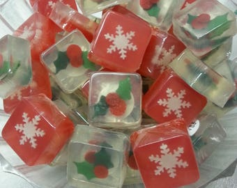 Snowflake Holiday Soap Favors
