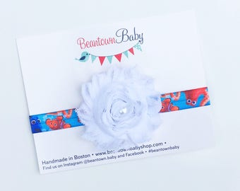 Finding Dory Birthday Outfit, Finding Dory Headband, Finding Dory Bow, Finding Dory Birthday Girl, Dory Baby Costume, Dory 1st Birthday