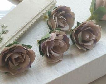 3 cm Forest Series Mister Lincoln Rose Silk Flower/ Artificial Flowers/wedding/Flower Bouquet/ Brooch/Tutu/Hat /Shoe accessories(.aa)