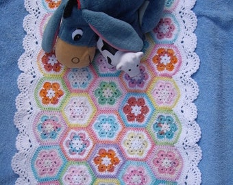 ON SALE - 10% OFF Granny Square Blanket American girl doll