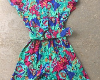 Vintage 80s/90s Cute Womens Abstract ROMPER