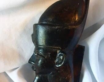 Vintage Tutankhamun Pharaoh Egyptian Mini Bust