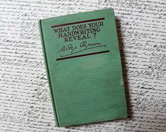 vintage handwriting analysis book, What Does Your Handwriting Reveal? Nadya Olyanova, graphology book, handwriting studies