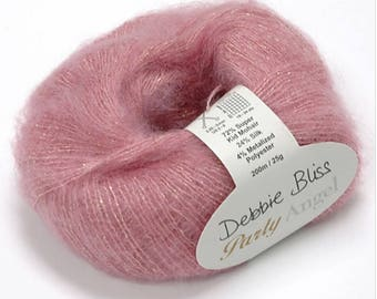1x25g/0.88oz Party Angel DK, Worsted Mohair Silk Yarn Debbie Bliss #15508