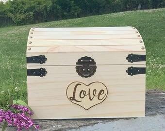 Quick ship Wooden Keepsake box, custom box, baby keepsake, wedding  box, engagement box, memorial box, memory box, toy box, kids toy box,
