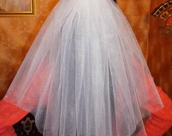 Balts plīvurs meiteņu ballītei. Plīvurs topošai līgavai. Plīvurs kāzām. Bachellorette party veil.