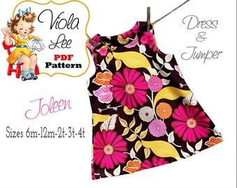 Joleen, Summer Dress Pattern, Girl's Dress Pattern, pdf Dress Pattern, Jumper Pattern, Toddler Dress Pattern, Infant Pattern, Baby Dress