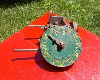 Heavy Duty Vintage INDUSTRIAL MULTI Reduction GEAR Rotational Device Ruf Machine Works from an Old New England Factory Steampunk