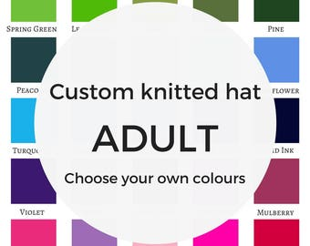 Custom knitted hat, personalised gift, design your own hat, unique christmas gift, gift for boyfriend, gift for girlfriend, knit accessories