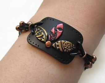 Mosaic jewelry, Flower Mosaic Polymer Clay Bracelet, Statement bracelet, Mosaic bracelet, Flower jewelry, Elegant jewelry, Flower bracelet