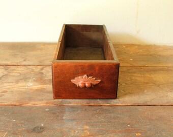 Vintage Wooden Drawer Repurpose Shelf Rustic Storage Display Organization