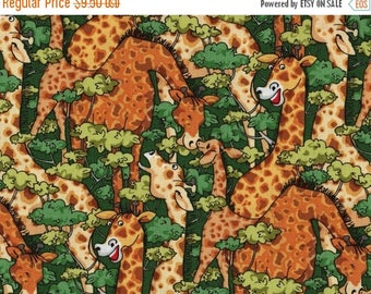 ON SALE Girraffe, Jungle Jam by Blank Quilting, Giraffe Fabric, Jungle Fabric, 1 yard fabric