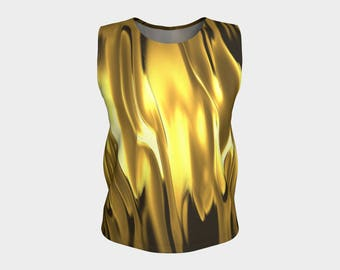 HOT Blazing Stylish Tank Top with Savy and ARTitude - Fifty-Six