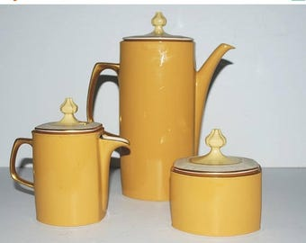 weekend sale Franciscan Martinique  coffee pot sugar and creamer with lids