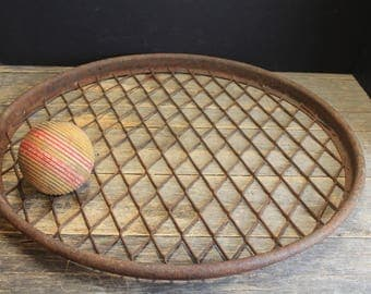 Rusty Farm House Metal Mesh Barrel Cover // Rusty Wall Hanging // Repurpose Steampunk