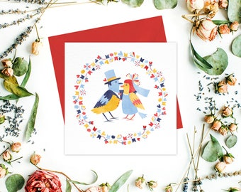 Love Birds Greeting card / greetings cards set - Wedding cards, engagement cards, anniversary cards, wedding anniversary, wedding stationery