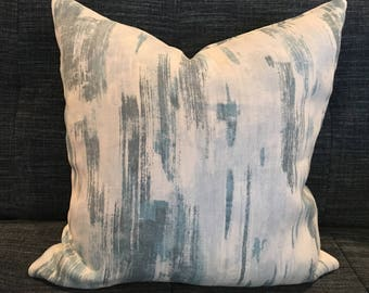 Seafoam Green and Grey Abstract Geometric Pillow Covers / Designer Fabric / Custom Handmade Home Decor Accent Pillows