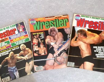 "1978 Professional Wrestling Magazines, Set of Three ""The Wrestler""  January, February and May 1978"